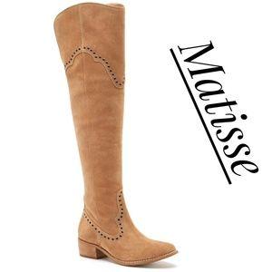NWOT ~ MATISSE Skyline Suede Over-the-knee Boots